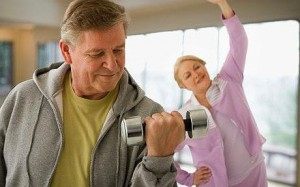 senior exercise 300x187 Muscle Mass in Elderly Boosted by Combining Resistance Exercise and Blood Flow Restriction